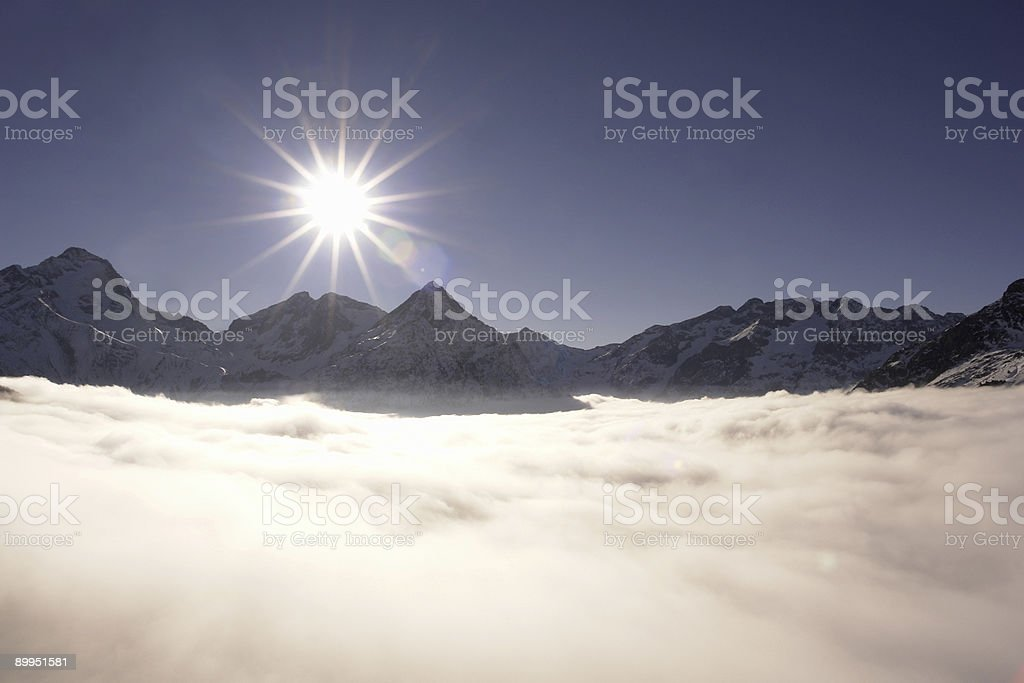 Mountain in the Clouds stock photo