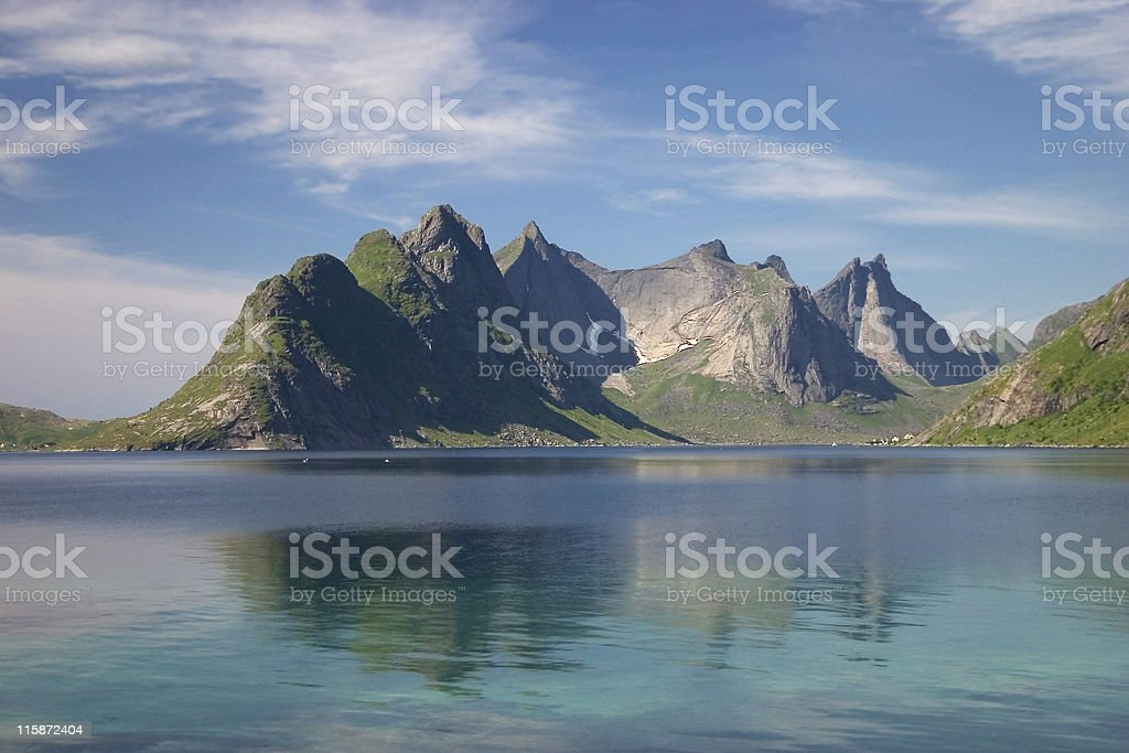 Mountain In The Water royalty-free stock photo