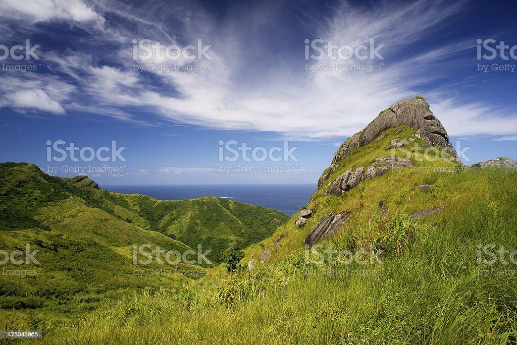 Mountain in Waya islands Fiji stock photo