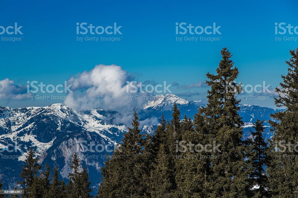 Berg im Winter stock photo