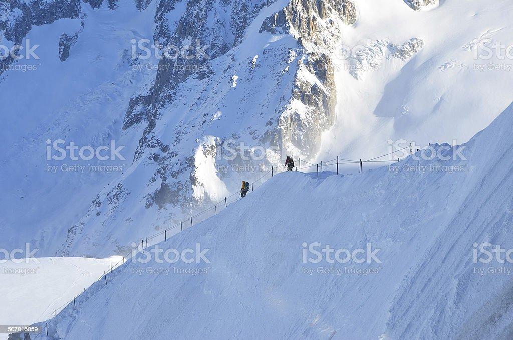 Mountain Journey Chamonix stock photo