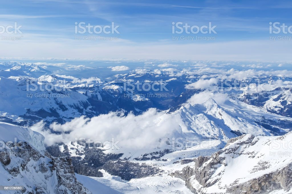 mountain jungfrau. stock photo