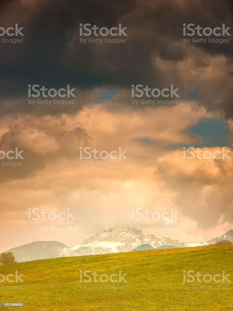 mountain kampenwand stock photo