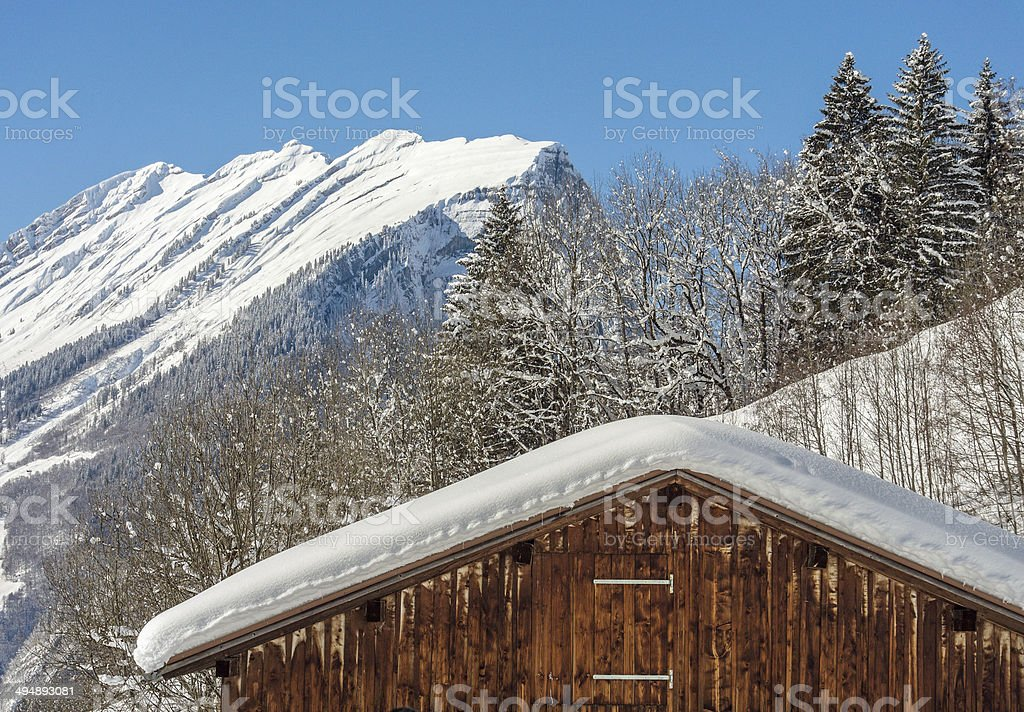 Mountain Kanisfluh in the Bregenzerwald / Austria stock photo