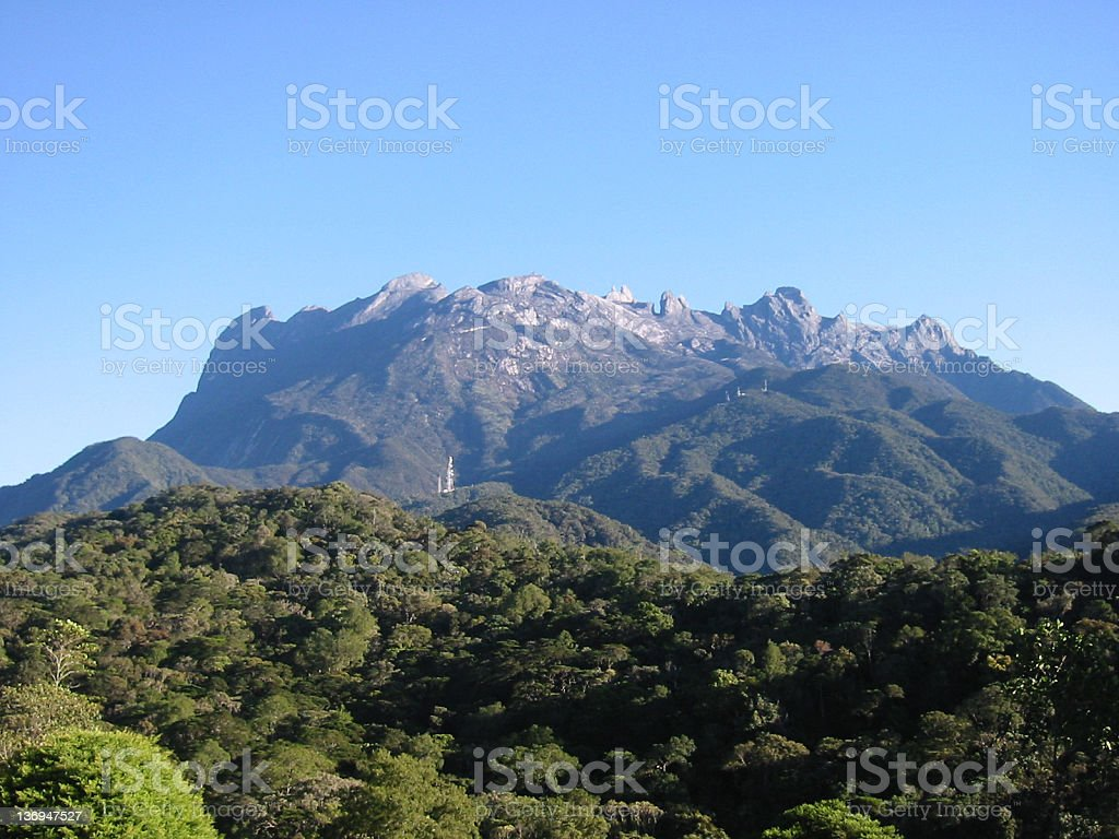 Mountain Kinabalu, Borneo Island stock photo