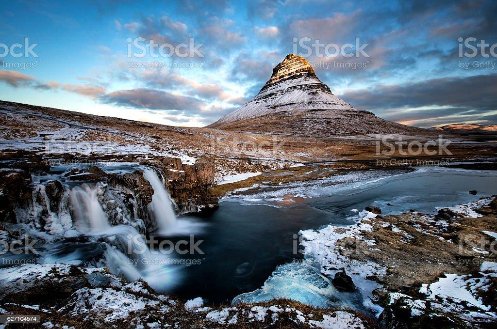Mountain Kirkjufell, Iceland stock photo