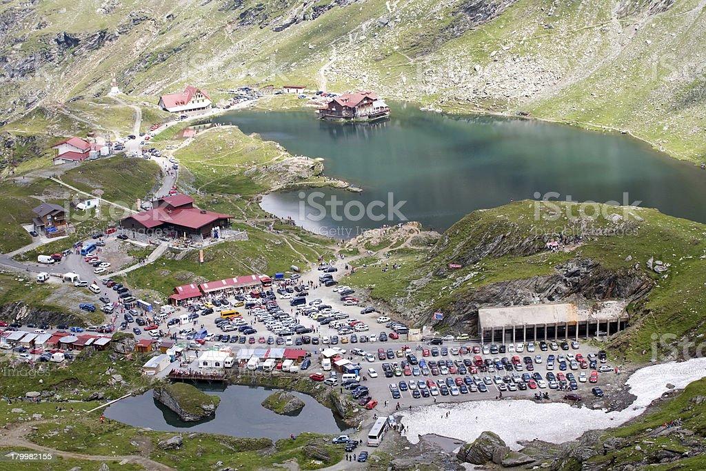 mountain lake and resort royalty-free stock photo