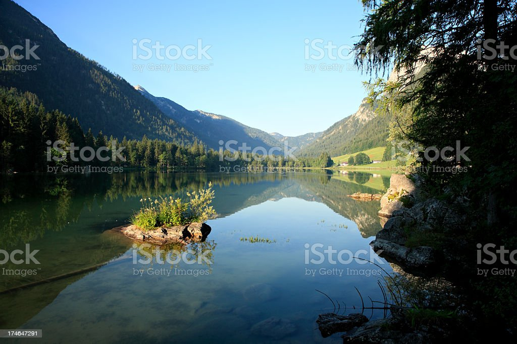 Mountain Lake at Dawn royalty-free stock photo