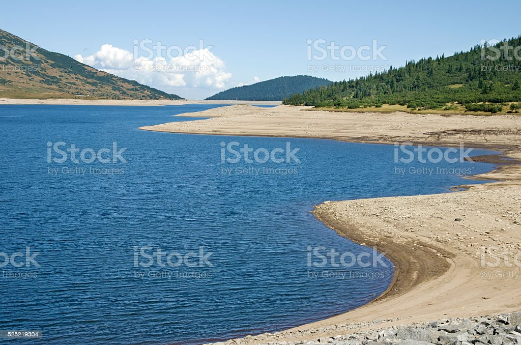 Mountain lake during drought royalty-free stock photo