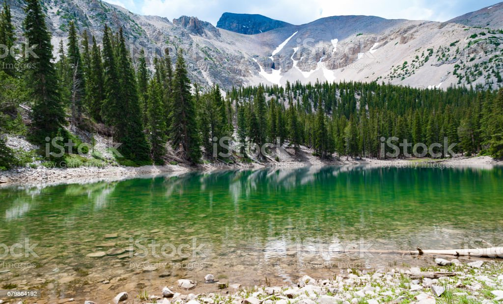Mountain lake, Great Basin National Park, Nevada stock photo