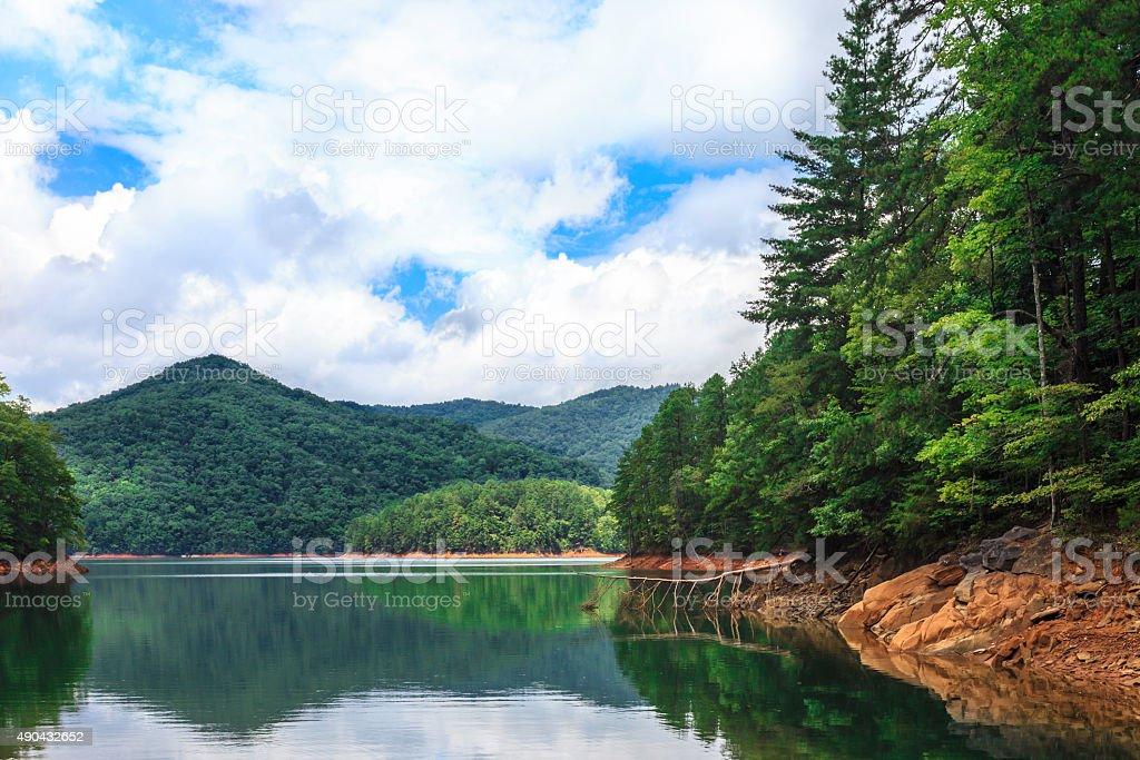 Mountain Lake - Great Smoky Mountains National Park stock photo