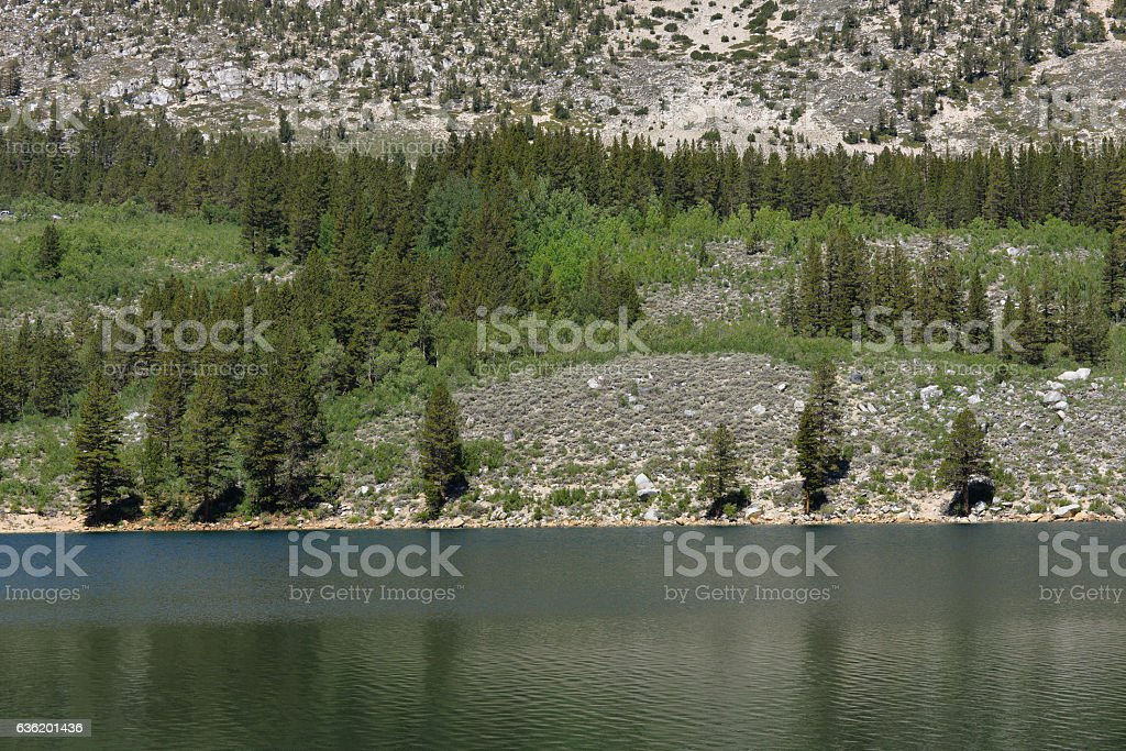 Mountain lake in California stock photo