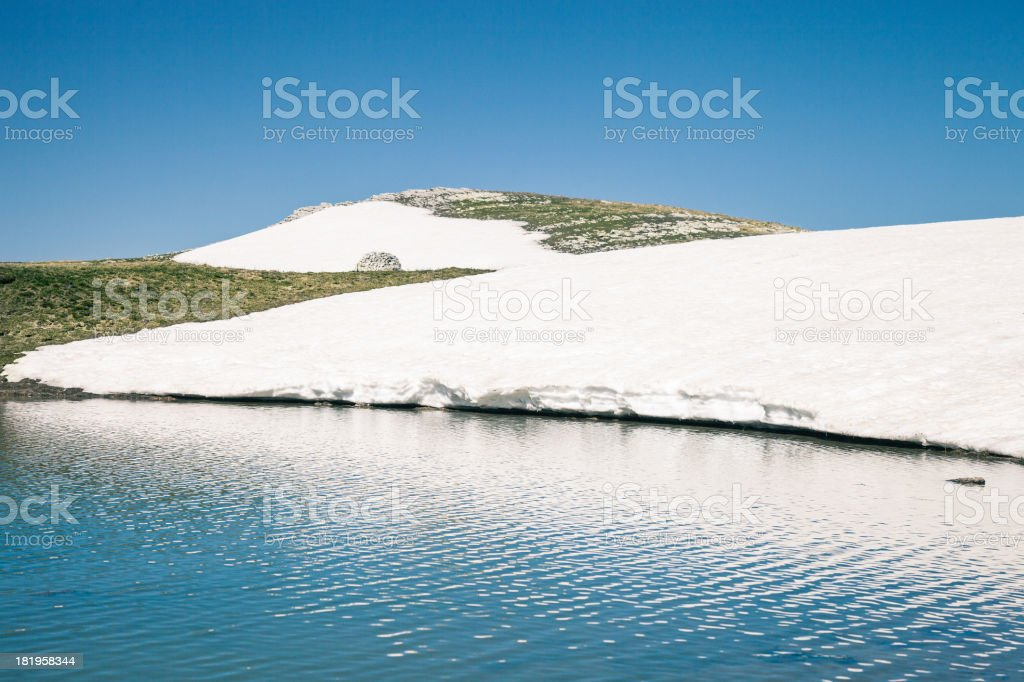Mountain lake in Italy - Marches stock photo