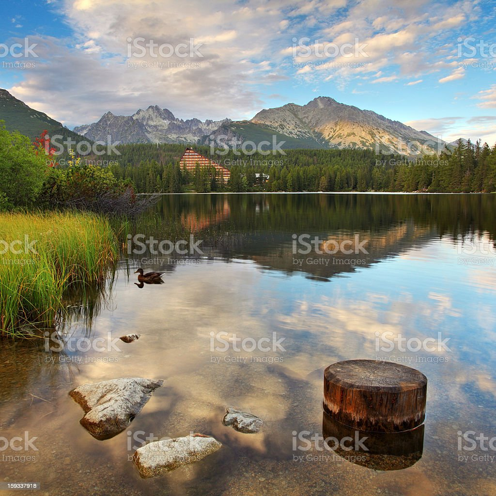 Mountain Lake in Slovakia Tatra - Strbske Pleso royalty-free stock photo