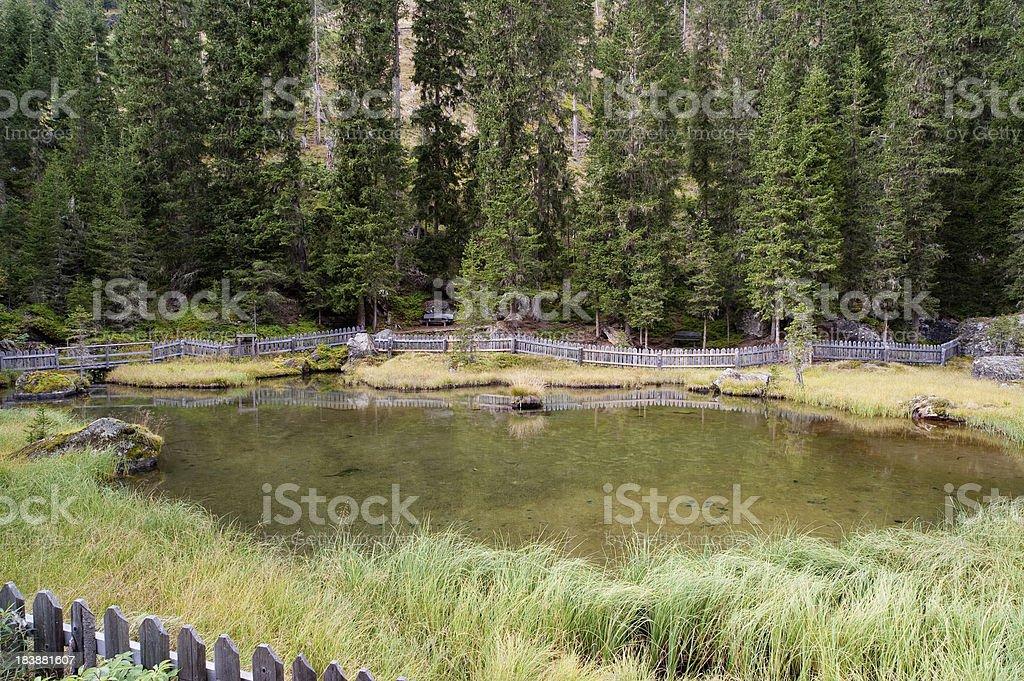 Mountain Lake in South Tirol stock photo