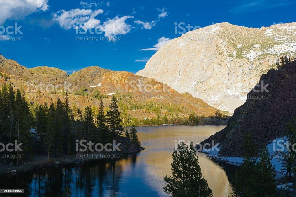Mountain Lake in Yosemite National Park stock photo