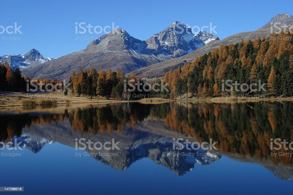 Mountain Lake 'Lej da Staz' stock photo