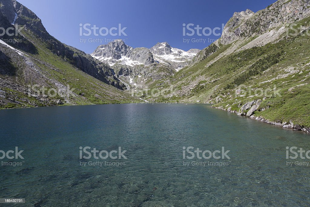 Mountain lake, National park of pyrenees, France royalty-free stock photo