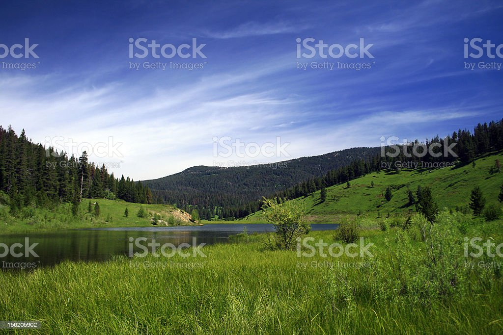 Mountain Lake on Summer's Day royalty-free stock photo