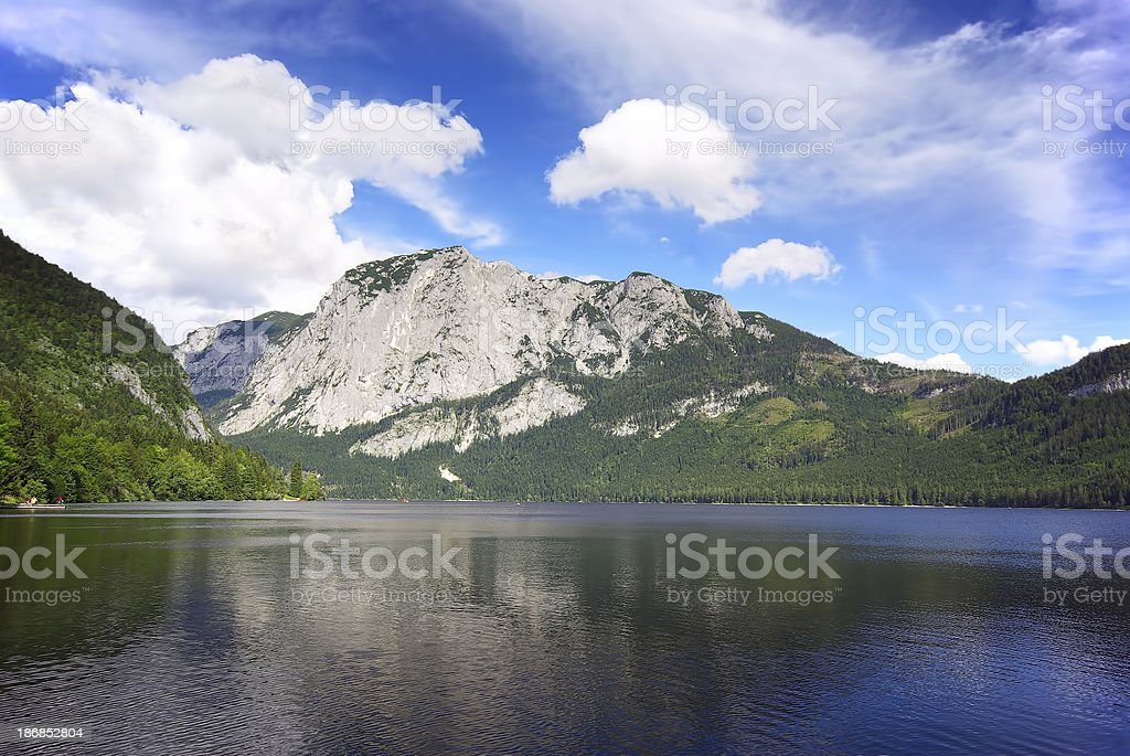 Mountain lake panorama royalty-free stock photo