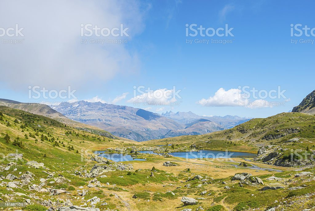 Mountain Lake Panoramic royalty-free stock photo