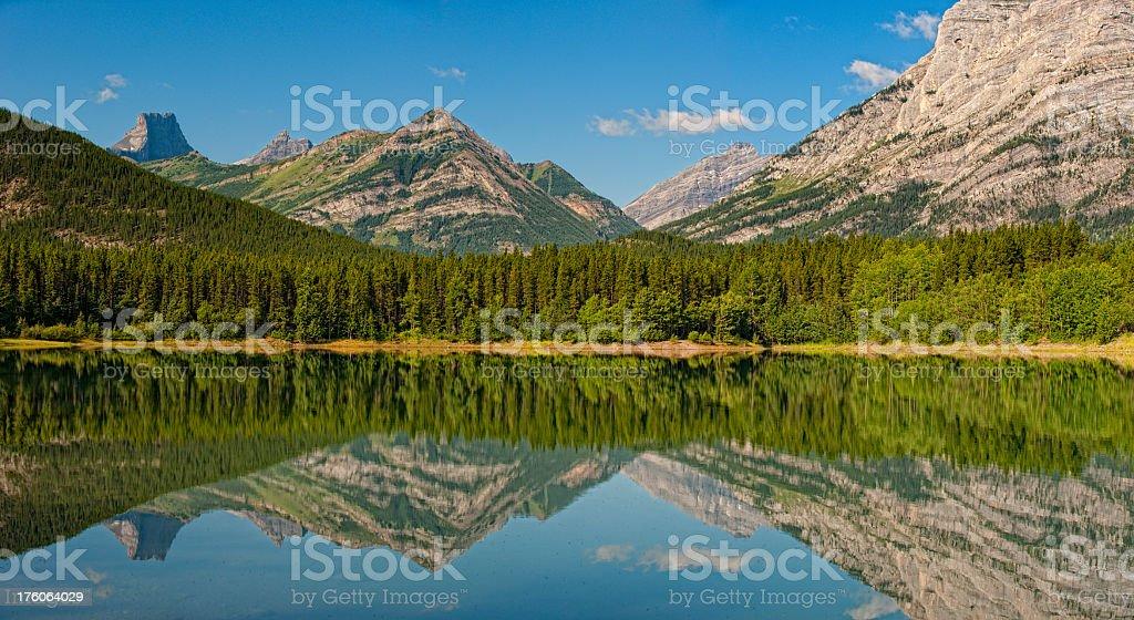 Mountain Lake Panoramic XXXL royalty-free stock photo