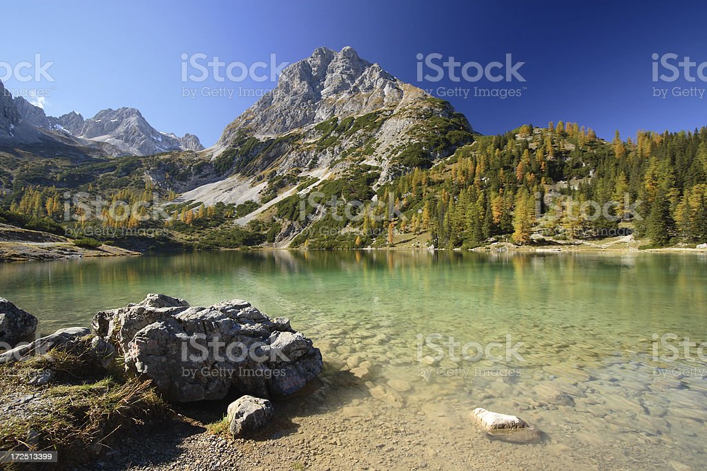 Mountain Lake Paradise royalty-free stock photo