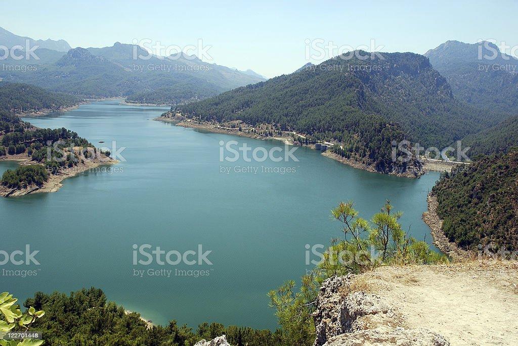 mountain lake (Turkey) stock photo
