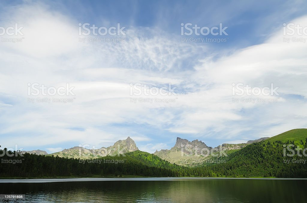 Mountain lake. royalty-free stock photo