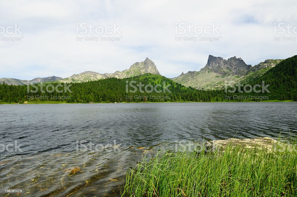 Mountain lake. royalty-free stock photo