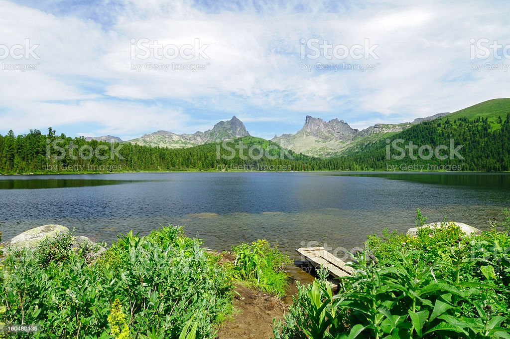 Mountain lake. stock photo