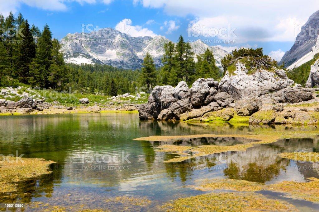 Mountain lake royalty-free stock photo