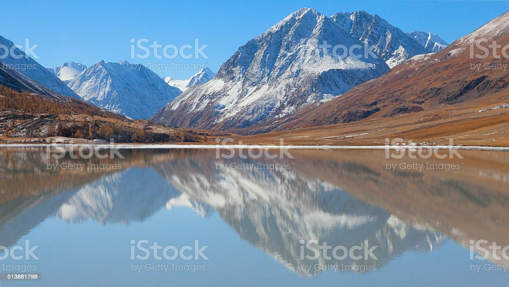 mountain lake stock photo
