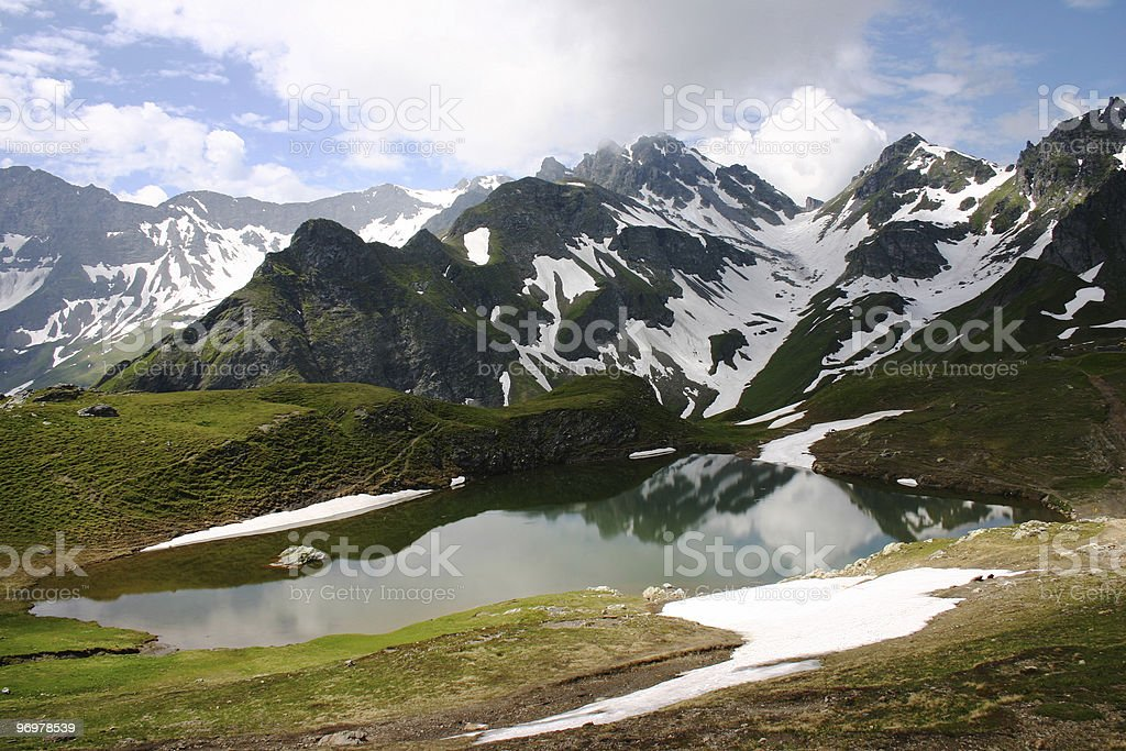 Mountain lake (Pizolsee) royalty-free stock photo