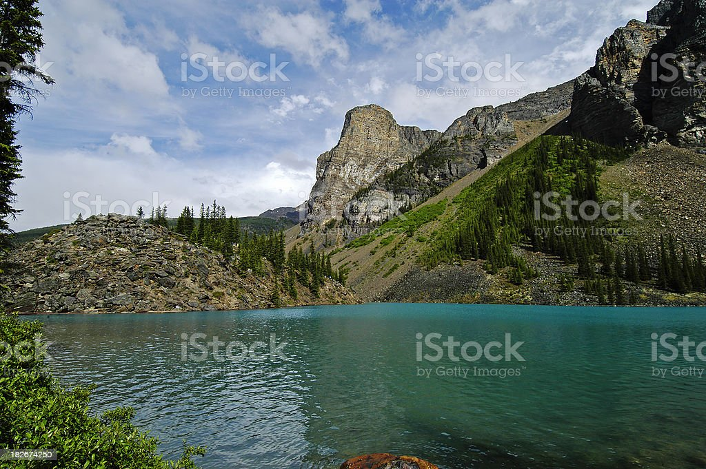 mountain lake south view royalty-free stock photo