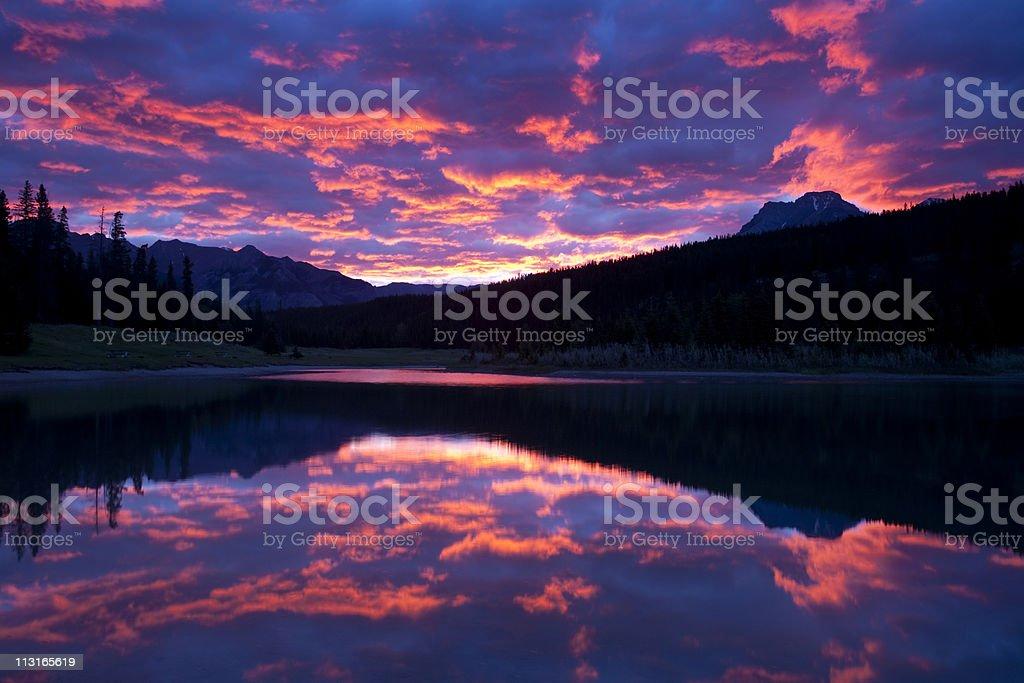 Mountain Lake Sunrise royalty-free stock photo