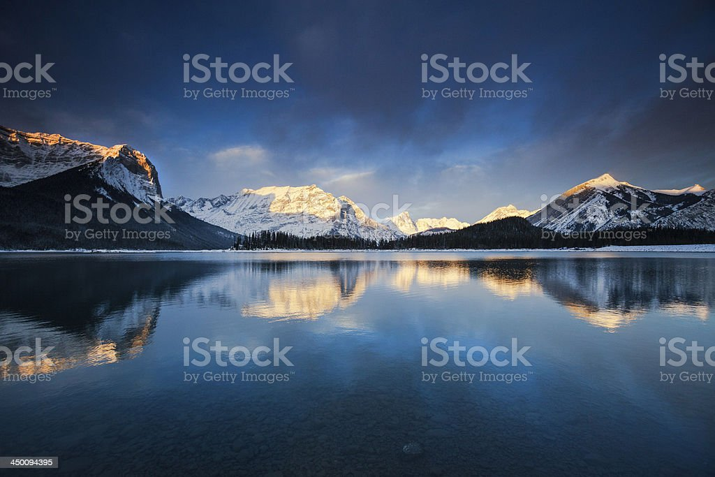 Mountain Lake Sunrise stock photo