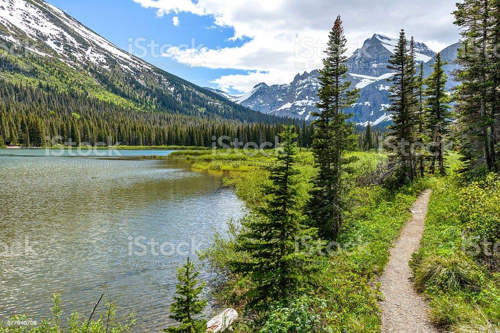 Mountain Lake Trail stock photo