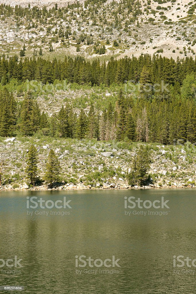 Mountain lake, USA stock photo