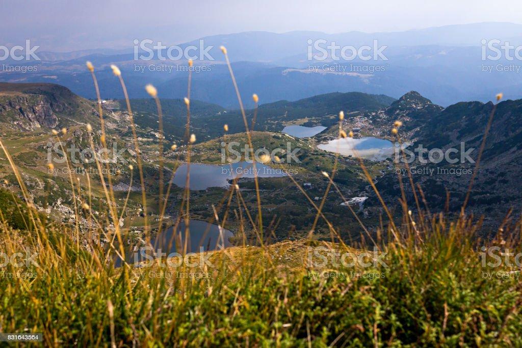 Mountain lakes on Rila mountain stock photo