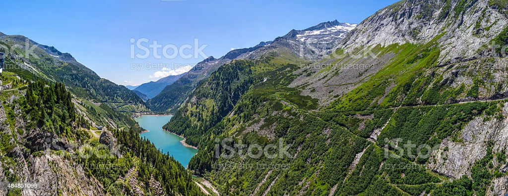 Mountain lakes stock photo