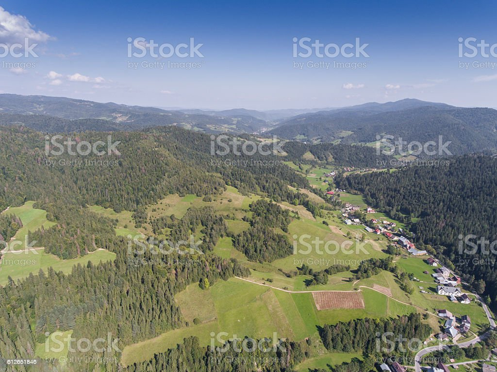 Mountain landcsape at summer time in south of Poland. stock photo