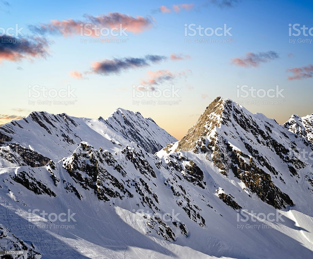 mountain landscape at dawn royalty-free stock photo