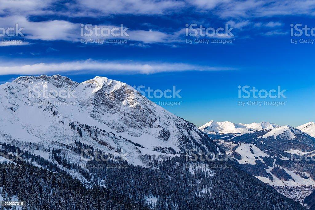 Mountain landscape, Avoraz, France stock photo