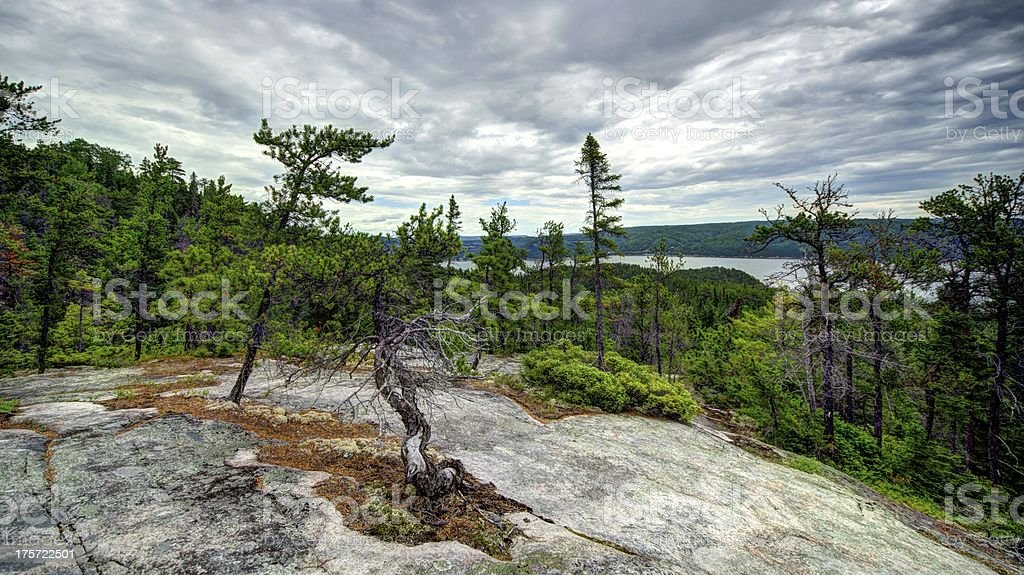 HDR, Mountain, Landscape, Canada, Quebec, Lake, Sky, Nature, Fjord royalty-free stock photo