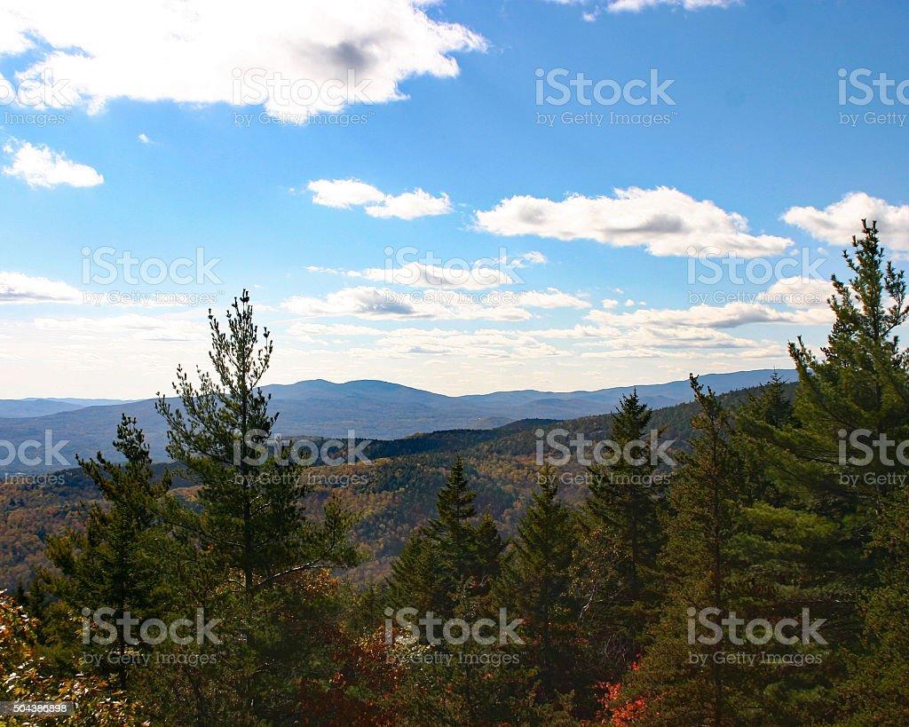 Paysage de montagne des collines boisées photo libre de droits