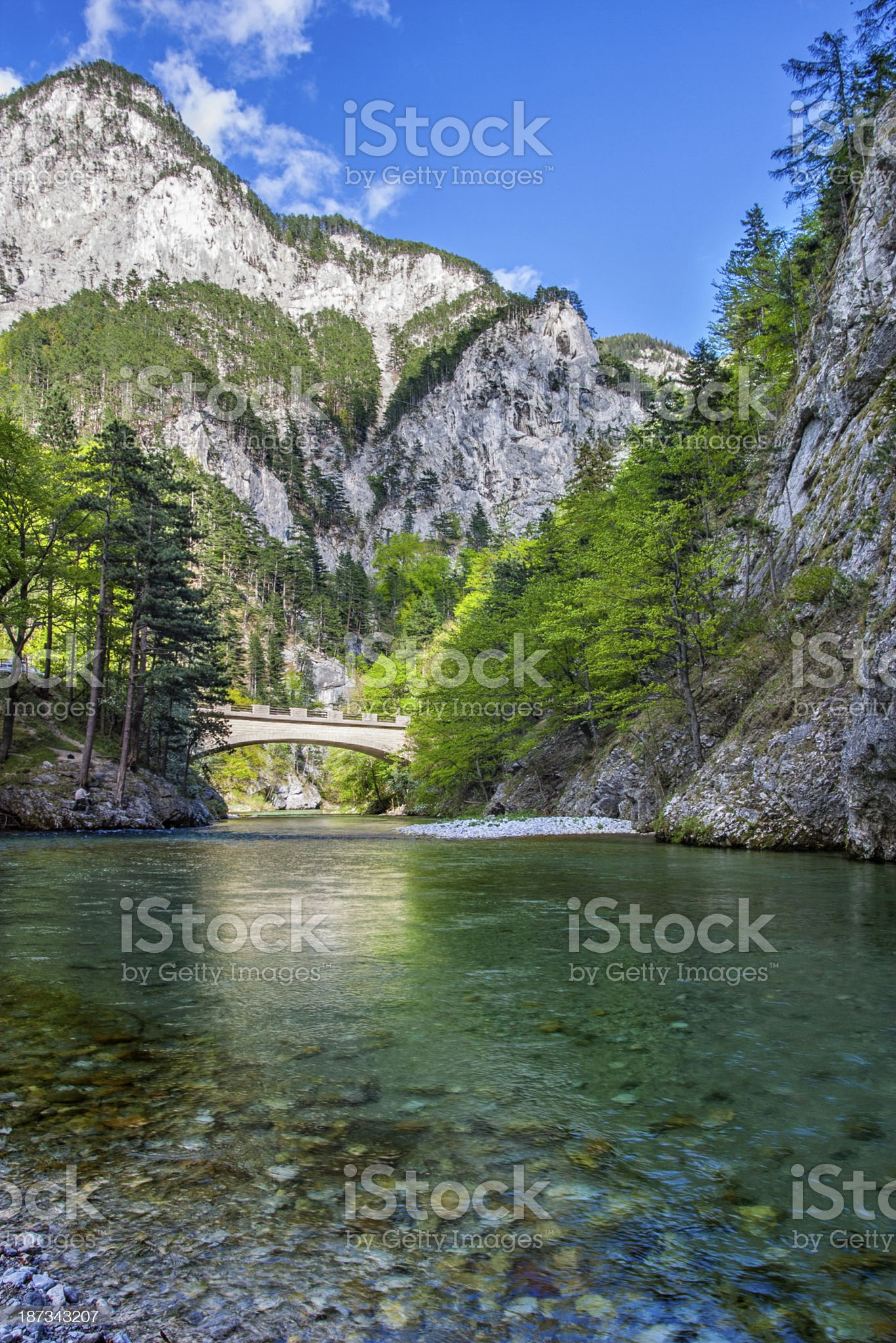 Mountain landscape from the European Alps royalty-free stock photo