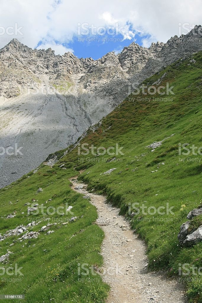 Mountain landscape in Arosa, Switzerland royalty-free stock photo