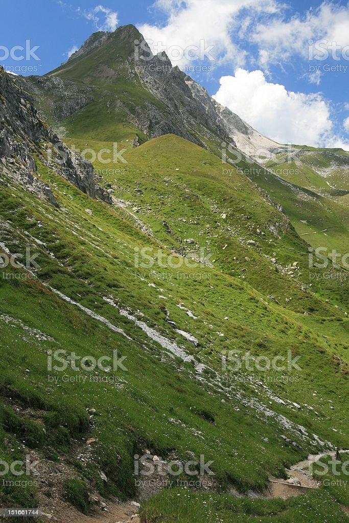 Mountain landscape in Arosa, Switzerland royalty-free stock photo