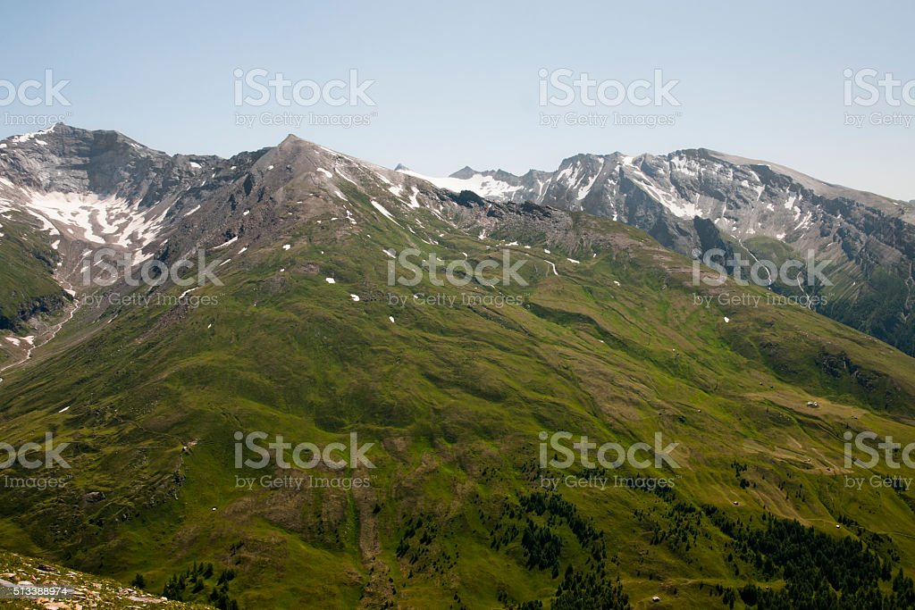 Mountain landscape in Austria stock photo